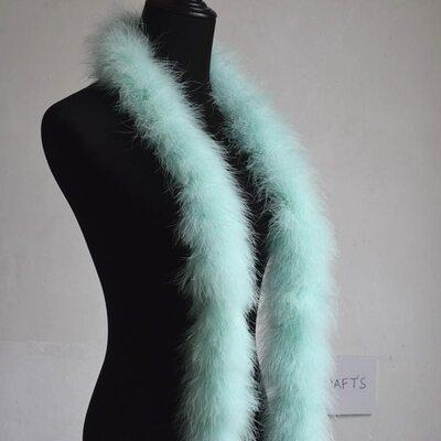 Толстые боа марабу Люкс, длинна 2м, 50гр - Мятный цвет