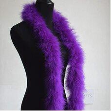 Толстые боа марабу Люкс, длинна 2м, 50гр -  Фиолетовый цвет