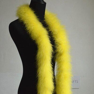 Толстые боа марабу Люкс, длинна 2м, 50гр -  Желтый цвет