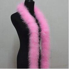 Толстые боа марабу Люкс, длинна 2м, 50гр -  Розовый цвет