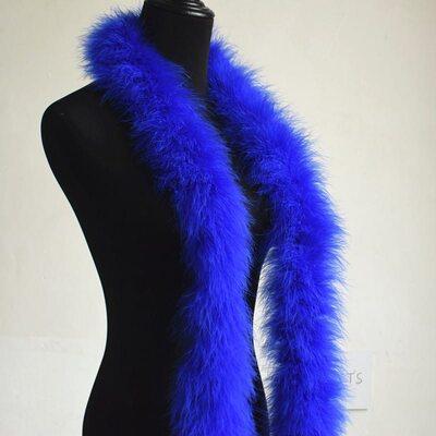 Толстые боа марабу Люкс, длинна 2м, 50гр - Синего цвета