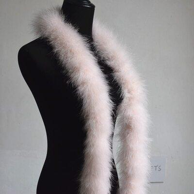 Толстые боа марабу Люкс, длинна 2м, 50гр - Пудровый цвет