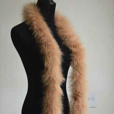 Толстые боа марабу Люкс, длинна 2м, 50гр - Коричневый цвет