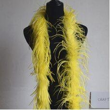 Боа из перьев страуса, 2 нити, длинна 2м. -  Желтые