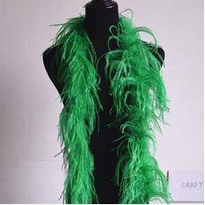 Боа из перьев страуса, однослойное, длинна 2м. - Зеленые