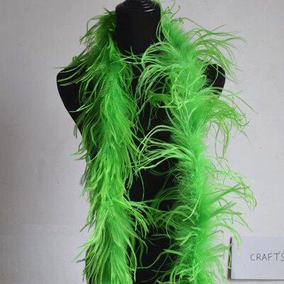 Боа из перьев страуса, однослойное, длинна 2м. - Салатовый цвет