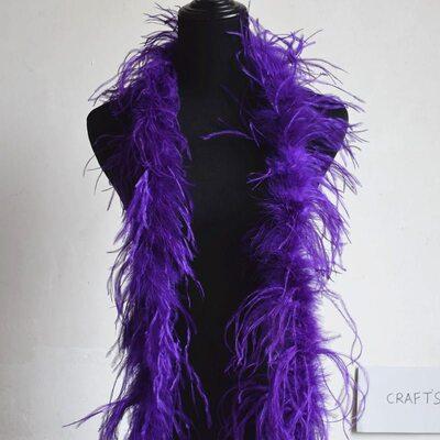 Боа из перьев страуса, 2 нити, длинна 2м. - Фиолетовые
