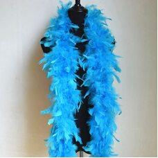 Боа из перьев индейки 60 гр., 1,8 м. - Голубой цвет