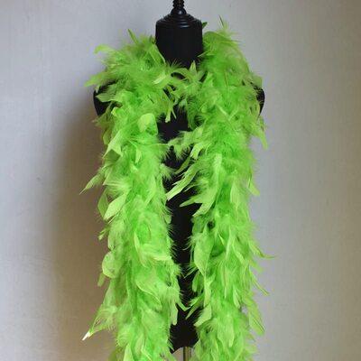 Боа из перьев индейки 60 гр., 1,8 м. - Салатовый цвет