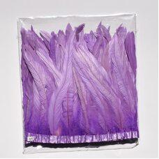 Тесьма из перьев петуха на ленте 25-30 см. Фиолетовый цвет
