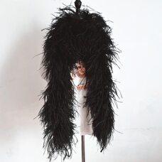 Толстые боа из перьев страуса, пятислойное, 2м,. - Черные