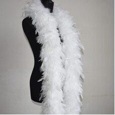 Боа из перьев индейки 120 гр., 2 м. - Белый цвет