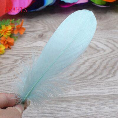 Пушистые перья гуся 13-18 см, 20 шт. Мятный цвет