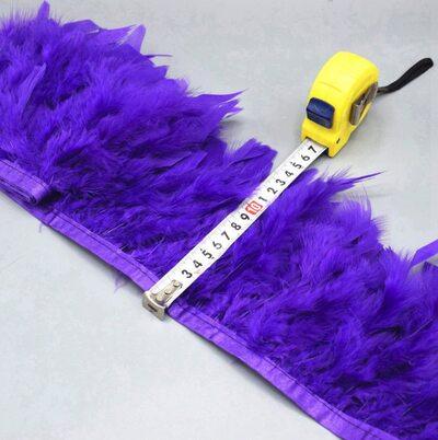 Тесьма из перьев индейки 13-18 см, 1м. - Фиолетовый цвет