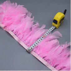 Тесьма из перьев индейки 13-18 см, 1м. - Розовый цвет