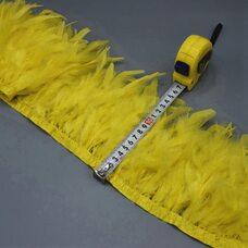 Тесьма из перьев индейки 13-18 см, 1м. - Желтый цвет