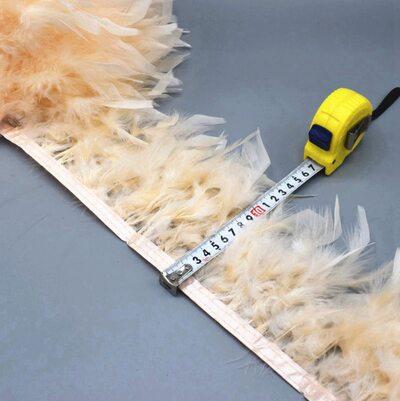 Тесьма из перьев индейки 13-18 см, 1м. - № цвета 006