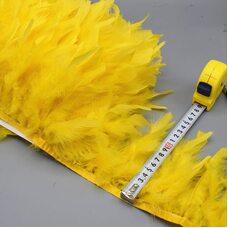 Тесьма из перьев индейки 13-18 см, 1м. - Золотистый цвет