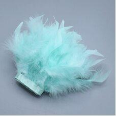 Тесьма из перьев индейки 13-18 см, 1м. - Мятный цвет