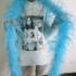 Боа из перьев страуса, 2 нити, длинна 2м. - Голубые #1