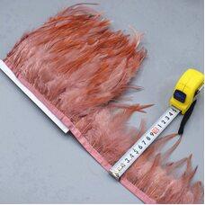 Тесьма из перьев петуха на ленте 10-15 см. Цвет 006