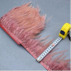 Тесьма из перьев петуха на ленте 10-15 см. Цвет 005