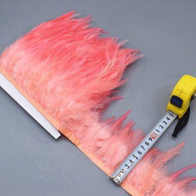 Тесьма из перьев петуха на ленте 10-15 см. Цвет 004