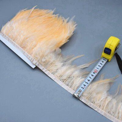 Тесьма из перьев петуха на ленте 10-15 см. Цвет 002