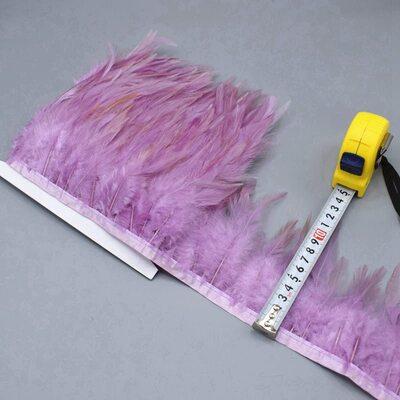 Тесьма из перьев петуха на ленте 10-15 см. Цвет 001