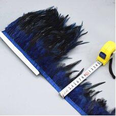 Тесьма из перьев петуха на ленте 10-15 см. Цвет 010