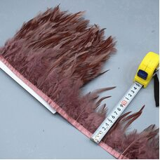 Тесьма из перьев петуха на ленте 10-15 см. Цвет 007
