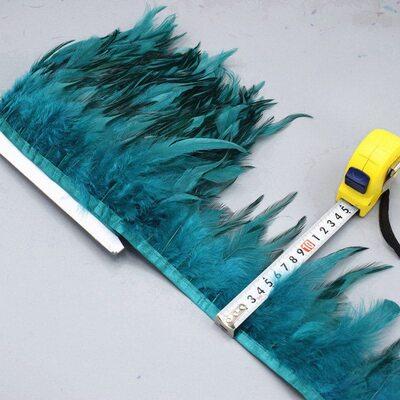 Тесьма из перьев петуха на ленте 10-15 см. Цвет 009