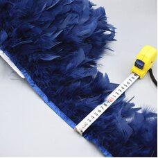 Тесьма из перьев индейки 13-18 см, 1м. - Темно-синий цвет