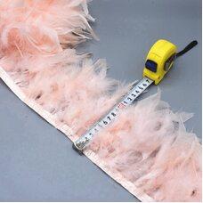 Тесьма из перьев индейки 13-18 см, 1м. - № цвета 012
