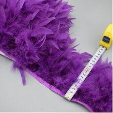 Тесьма из перьев индейки 13-18 см, 1м. - № цвета 009