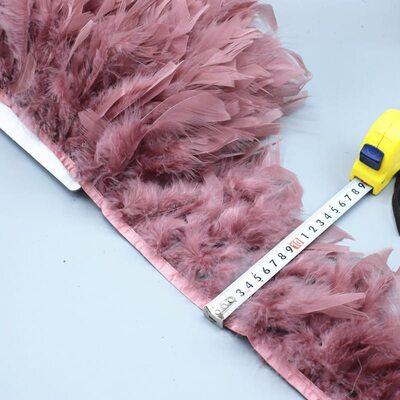 Тесьма из перьев индейки 13-18 см, 1м. - № цвета 008
