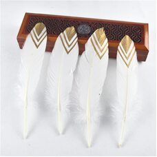 Пушистые перья гуся 15-20 см, 10 шт. №004