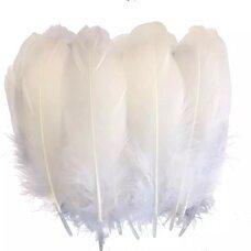 Пушистые перья гуся 15-23 см, 20 шт. Белого цвета