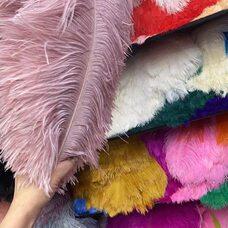 Премиум перья страуса 50-55 см. Пыльная роза