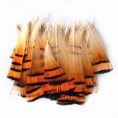 Декоративные перья Pheasаnt 4-6 см. 10 шт.