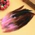 Перья петуха двухцветные 12-18 см. 20 шт. Розового цвета