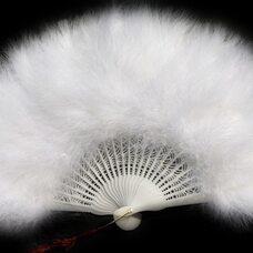Веер из перьев Индейки - Белый цвет