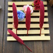 Перья утиные 10-15 см. 20 шт. Красное вино