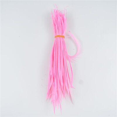 Перья гуся 15-20 см. биот (нити) - 10 шт. Розовый цвет