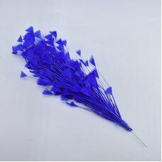"Перья индейки ""Геометрия"" 10-15 см. 10 шт. Синий цвет"